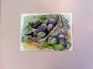 figues à l'aquarelle